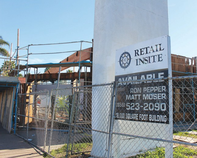 Demolition of a former furniture store at the corner of Beech & Valley Parkway is almost complete. The gutted buildings are making way for new retail rental space.
