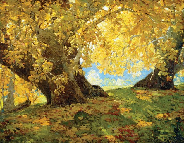 Edgar Payne's Sycamore in August is one of the plein-air works that will be on display at the California Center for the Arts, Escondido from March through May.