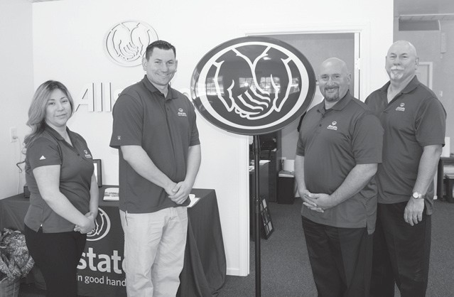 The team at Allstate (from left): Alejandra Barreto, executive assistant; Steve Schultz, office manager; John DelZio, agency principal and Robin Schultz, exclusive agent.