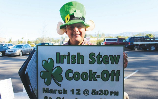 "Clothes make the man, and this hat says ""Faith and Begorrah."" The Irish Stew Cook-off is Thursday, March 12 at St. Stephen Hall, beginning at 5:30 p.m."
