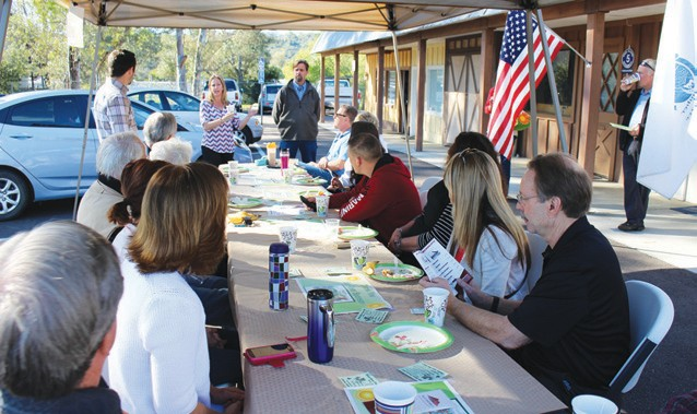 Friday's Valley Center Chamber of Commerce Sunrise was sponsored by Lilac Hills Ranch. The breakfast gatherings happen at the Chamber office.
