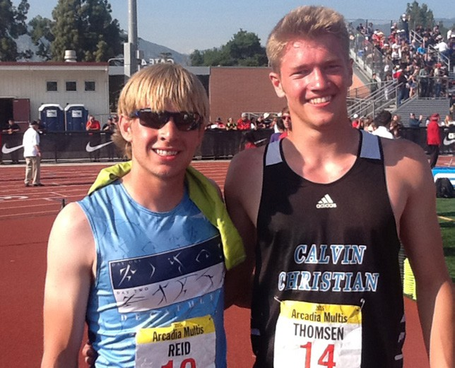 """America's Greatest Athlete"" Corey Reid--Decathlon Champion from Carson Nevada High School with top Junior and ""California's Greatest Athlete"" Ryan"