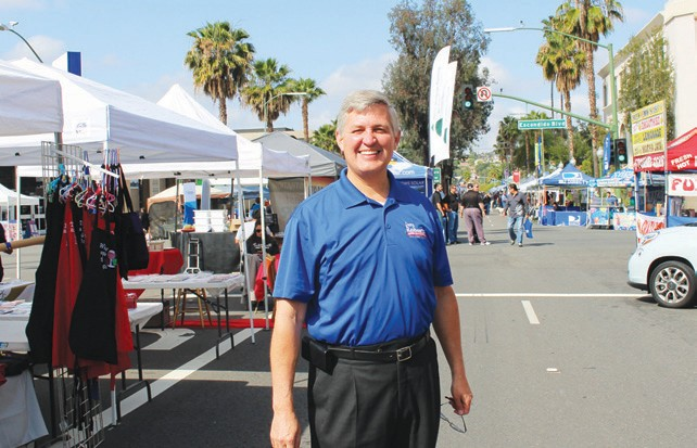 Supervisor Dave Roberts was out bright and early on Sunday to MC events
