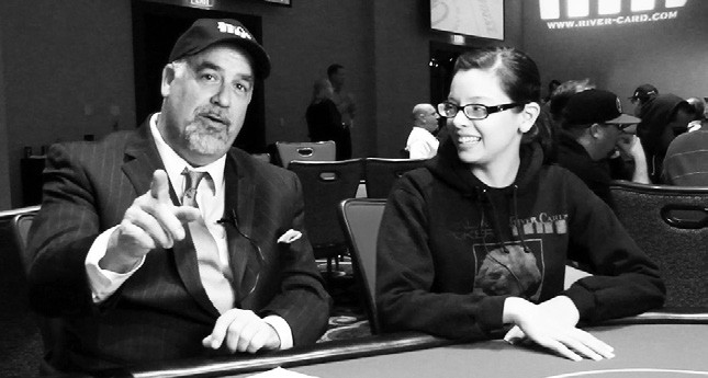 Escondido resident Morgan Brown, who founded the RiverCard Tournament several years ago, is now taking it to some of the biggest casinos in the country, including the Venetian and Planet Hollywood. Here Brown interviews poker player Jena Engen on June 13. RiverCard had 312 players at the tournament, with a total prize pool of $62,400.