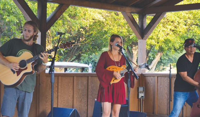 The Moves were another local professional band that provided an afternoon of music at Bates Nut Farm.