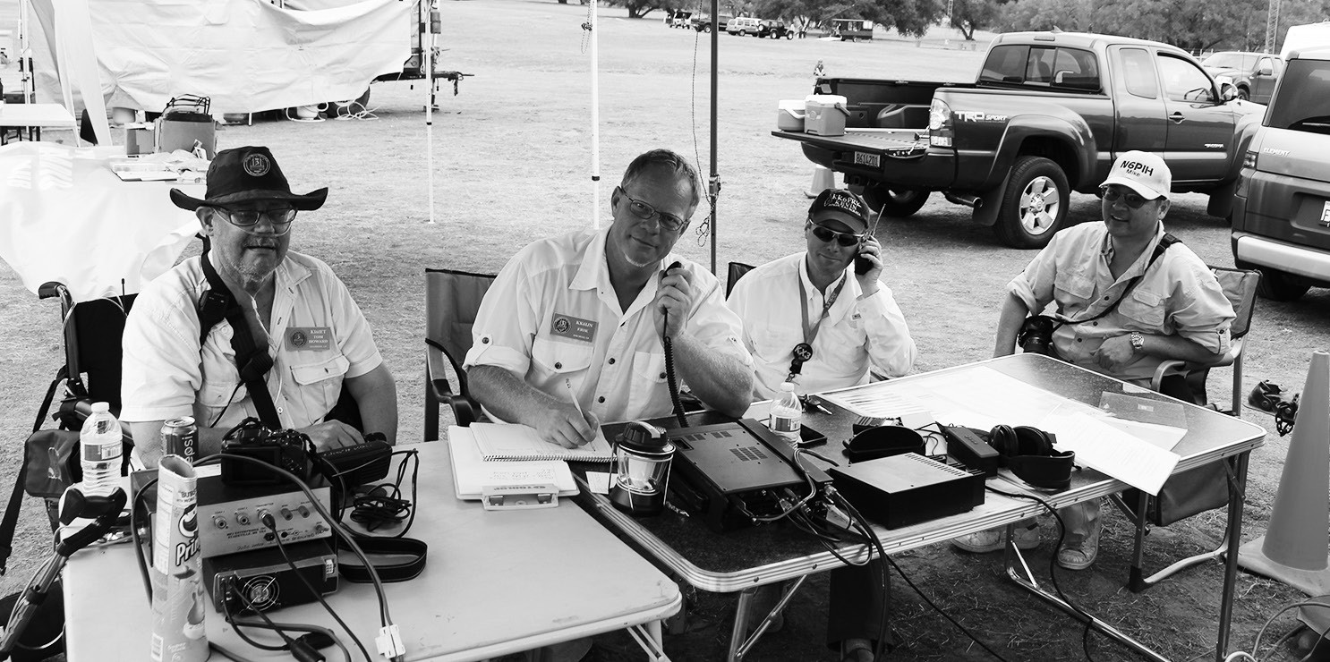 Members of the Palomar Amateur Radio Club (from left), Tom Howard (call sign KI6IET) Erik Johnson, KK6IJN and Kevin Walsh, KK6FRK.