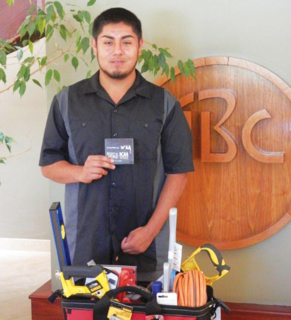Miguel Comacho of Escondido recently received the 2015 ABC Apprentice Scholarship.