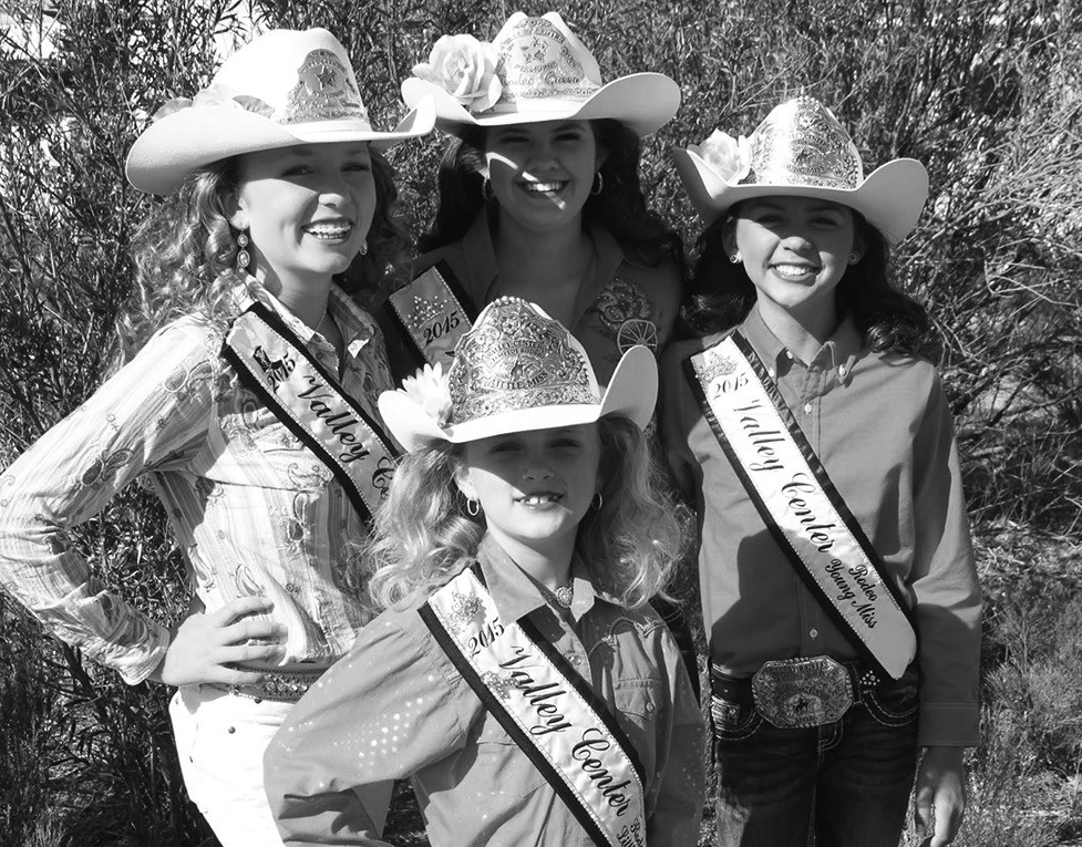 Valley Center's rodeo royalty.