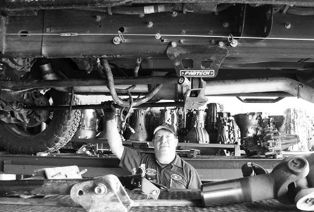 Sal Salas is the diagnostic technician as well as remove and install transmissions.