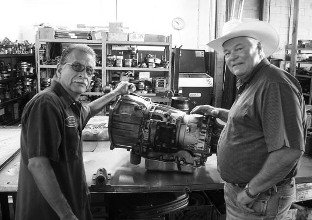 - Doug Copeland and builder Robert Mirales discuss an Allison 6-speed automatic just rebuilt.