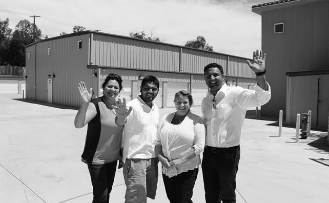 The Valley Center Self Storage crew: (from left) Bernadine, Sam, Valinda and Neil.