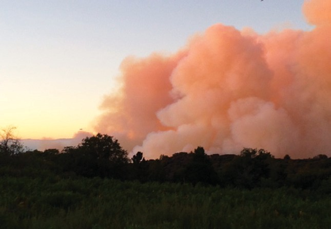 George Lucia took this photo near dusk on Friday, shortly after the Cutca Fire started.