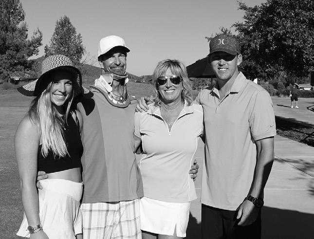 "Shown is Jim McFarland, the beneficiary of ""Chip in for Jim"" (second from left), with his family (from left), Jordan McFarland, Jeanne McFarland and Jon Forrest."