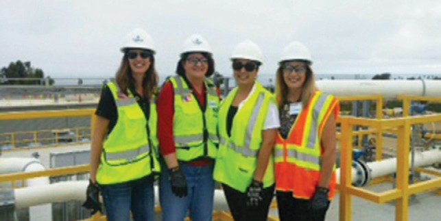 Touring the Poseidon desalination plant in Carlsbad. From Left: Republican Leader Kristen Olsen, Speaker Toni Atkins, Assemblymember Cristina Garcia and Assemblymember Marie Waldron.