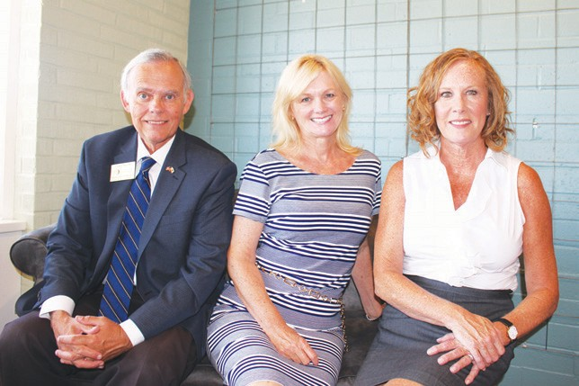"Marie Waldron staff members (from left) Tom Stinson, Jayme Chick and Marie ""M.I."" Joyce."