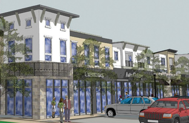 Integral Communities, which is purchasing the old police station, did Palomar Station in San Marcos. Shown is an artists rendition of the development.