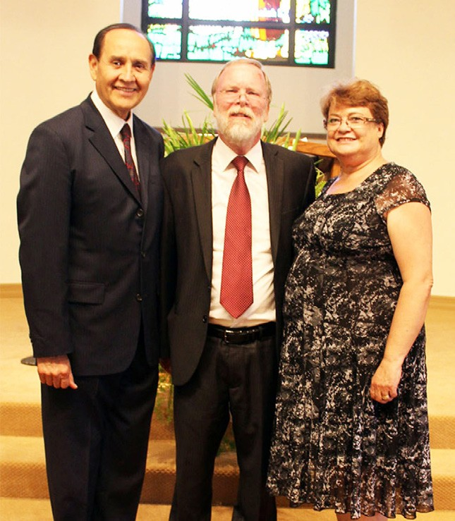 From left: Pastor Mario Perez – Ministerial Director, Southeastern California Conference of Seventh-day Adventists, Pastor Dave Peckham and Cheryl Peckham.