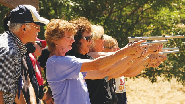 Firearms training is a growing activity among women.