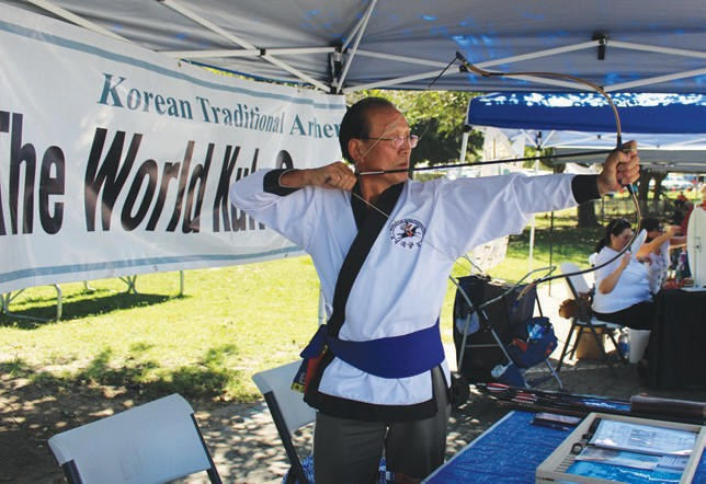 The 2nd annual Kuk Gung Festival will take place October 3-4 at the World Kuk Gone Federation at 29745 Lilac Rd. in Valley Center. The archery festival includes Korean dance and music, Korean cuisine, Ku Gung Basic lessons, practice and competition. Cst is $50 for both days and $30 for Saturday only and $20 for Sunday only. Questions, call 760-749-7211 or email kukgung@yahoo.com. Shown is