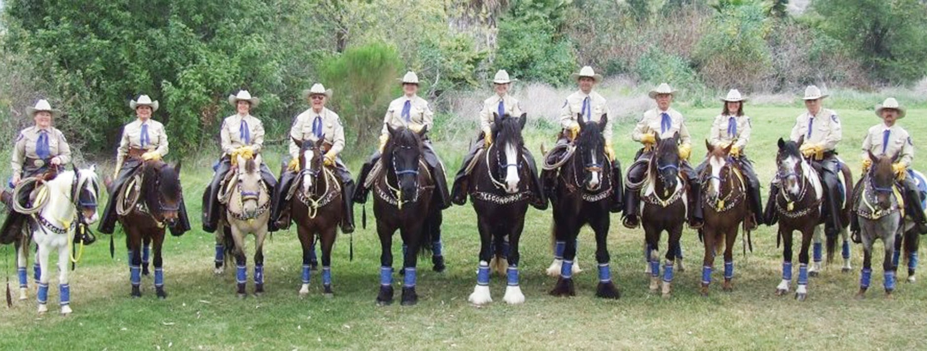 The Escondido Mounted Posse is an equestrian group that participates in various parades throughout San Diego county. Once a law enforcement group, the Posse is now made up entirely of volunteers who share a love for horse riding.