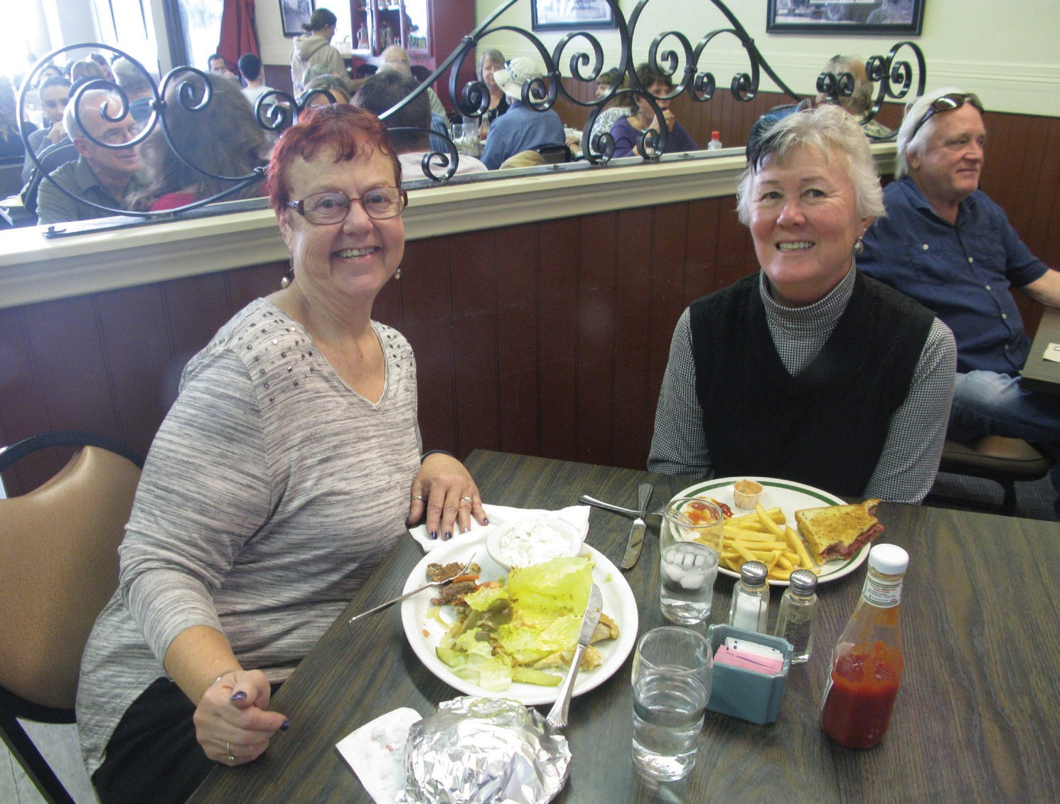 Sisters Eleanor McFarling and Francena Sherburne enjoy the last day of Champion's Family Restaurant. The native Escondidans have both been part of the restaurant's history since the 1970s.