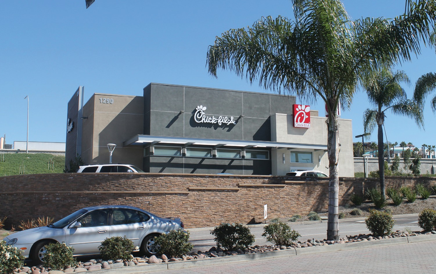 ABOVE: The Escondido Chick-fil-A, located at 1290 Auto Park Way, is one of the nine San Diego locations that is hosting free giveaways.