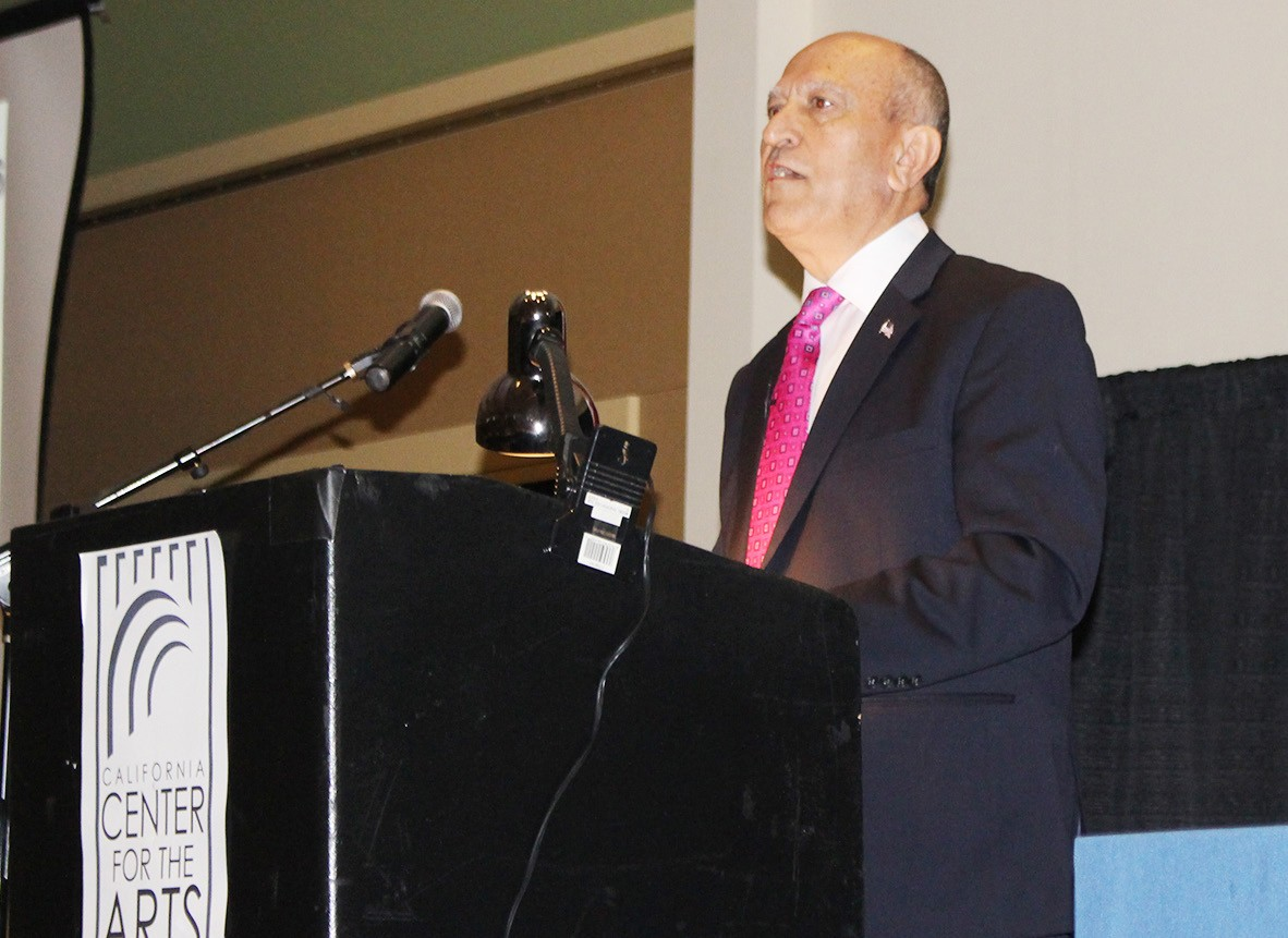 """As my favorite president Ronald Reagan once said, 'America is too great for small dreams,'"" Mayor Sam Abed told the State of the City crowd. ""So is Escondido."""