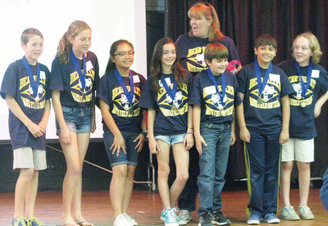 Bear Valley School's team won top honors at the Math Field Day last Saturday at Del Dios Academy. Competing teams of fifth- and sixth-graders solved math problems using teamwork for the competition.
