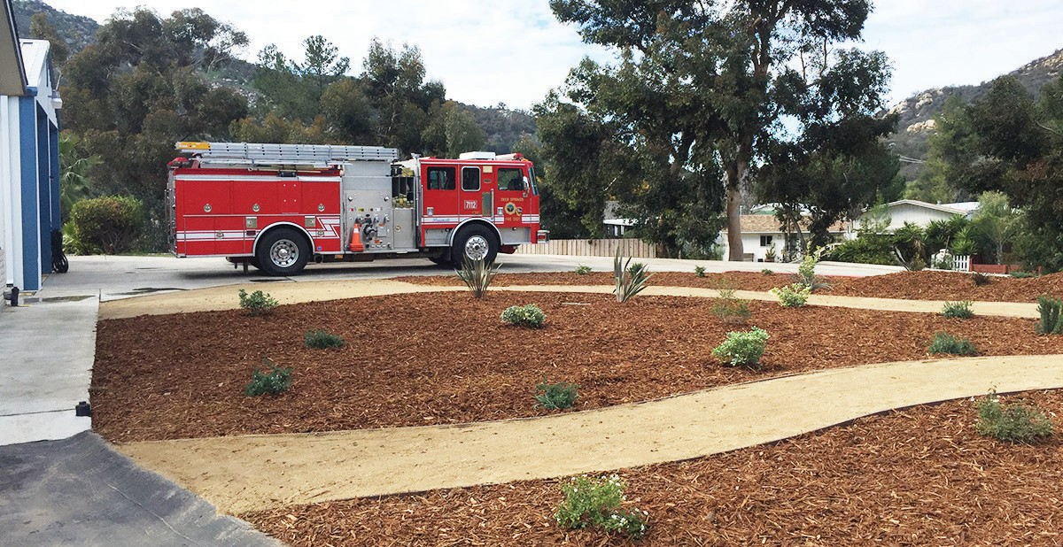 Local nursery landscapes fire station | Escondido Times-Advocate