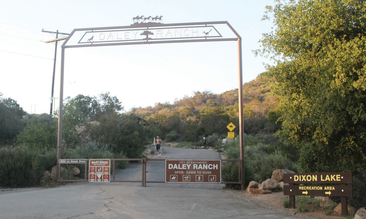 The La Honda entrance to Daley Ranch is located near the Dixon Lake recreation area in North Escondido.