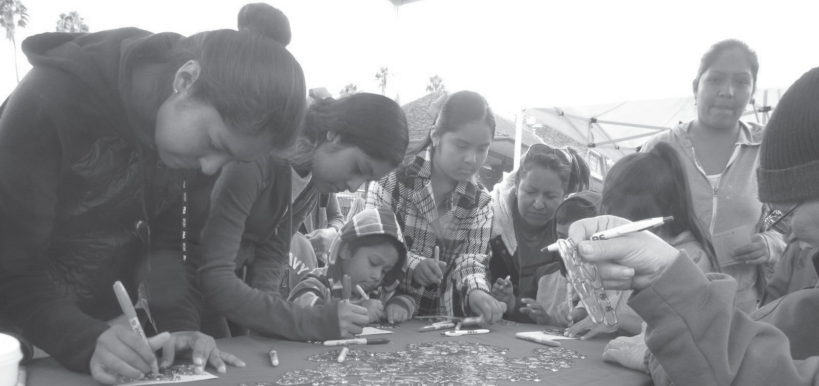 Escondido Union School District's Peace Fest included art projects for the students and families at Grape Day Park.