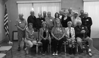 The standing Horlick grads included Michael Dockery (1964), Roger Tischendorf (1957), Jack Ritt (1946), Dennis Gibbs (1960), Leon Hommerding (1962), Rita Hommerding (1965), Paul Krause (1956), Sherry Samarzea (1958), Ron Denman (1952), Leonard Harcus (1953), Bill Hetzel (1960), and Bob Janecky (1952). Seated are Charlene Christensen (1959), Carolyn Hiott (1964), VI Lopour (1953), Gerry Petersen (1956), and Jerry Nehring (1948).