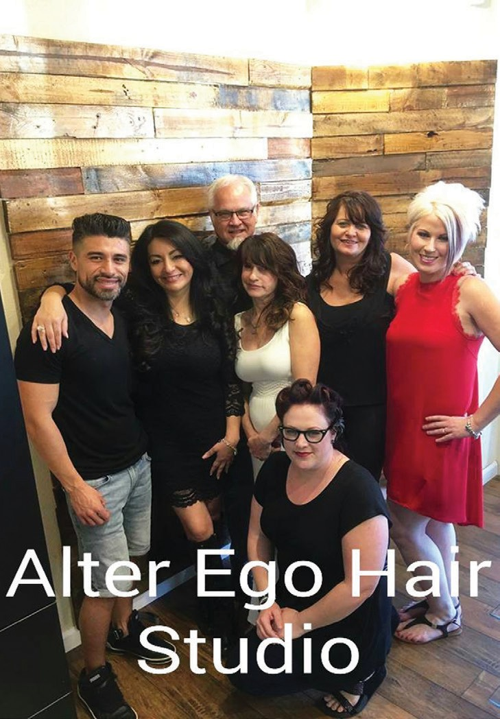 Maureen Muise and the staff of Alter Ego Hair Studio.