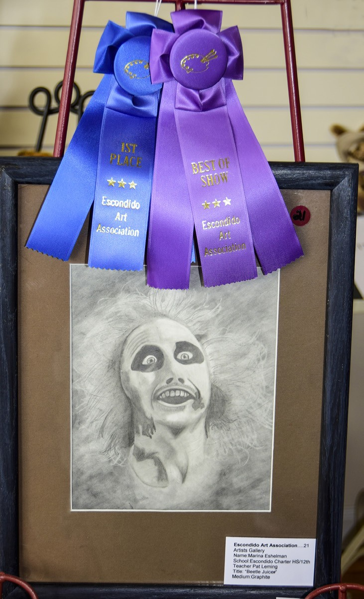 The Best of Show drawing of Marina Eshelman, of Escondido Charter High School.