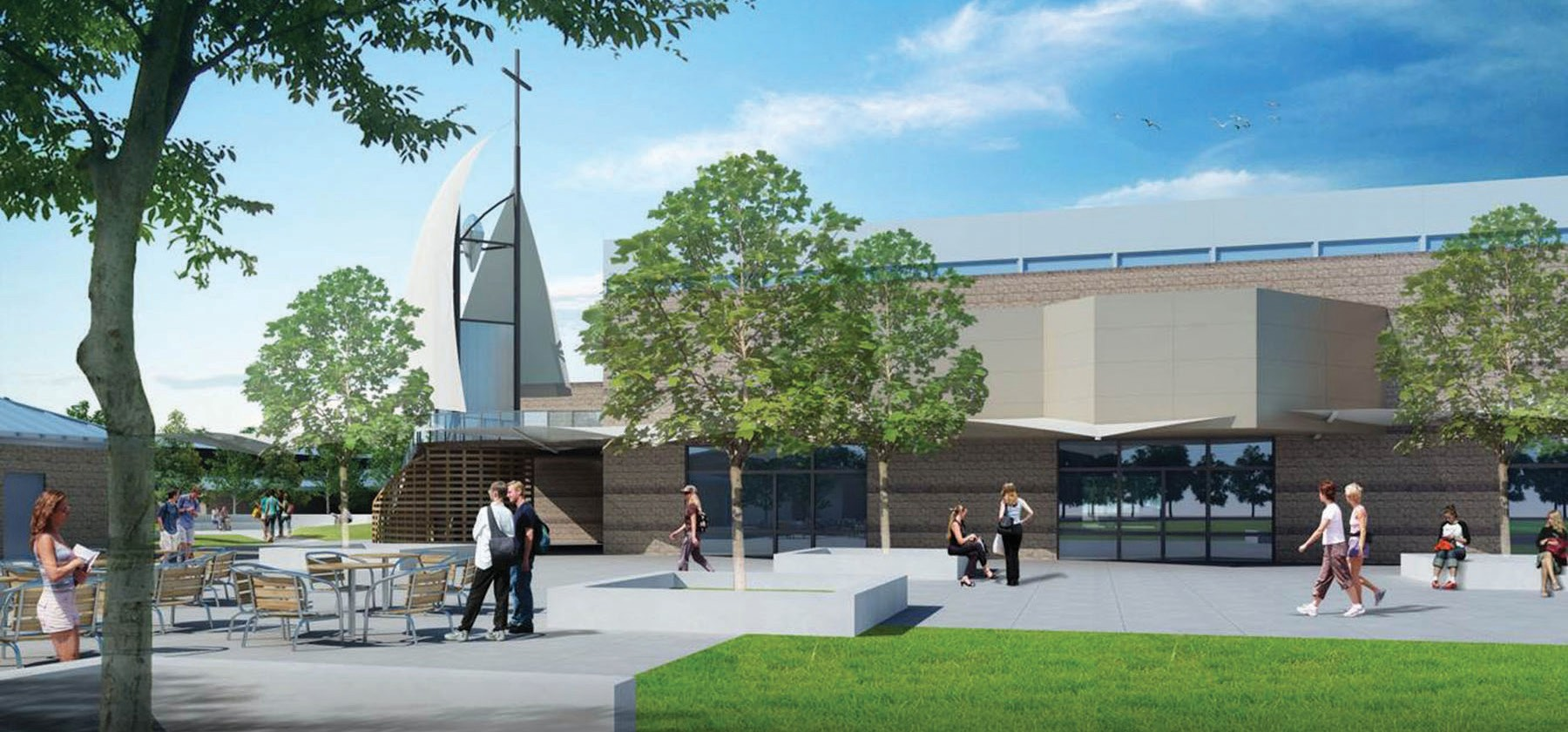 Artist's conception of the Heritage Center.