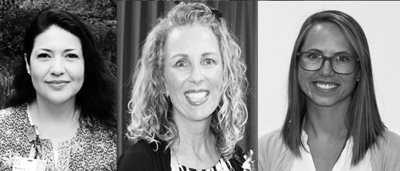 2016 Nurses of the Year are, from left, Marilu Acheff, RN, Palomar Medical Center Neurological Unit; Debra Roman, RN, Pomerado Hospital Birth Center; Ruth Parker, RN, Palomar Health Downtown Campus Acute Rehabilitation.