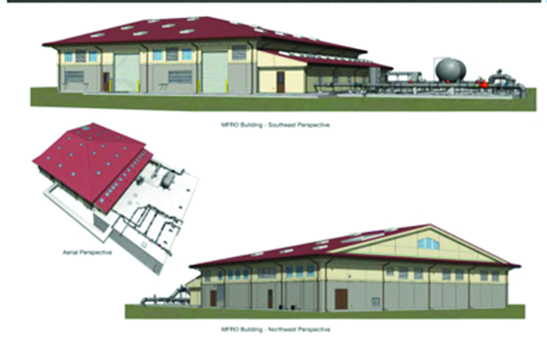 Proposed appearance of the water plant that is aesthetically designed to attempt to match the appearance of the housing area surrounding the facility.