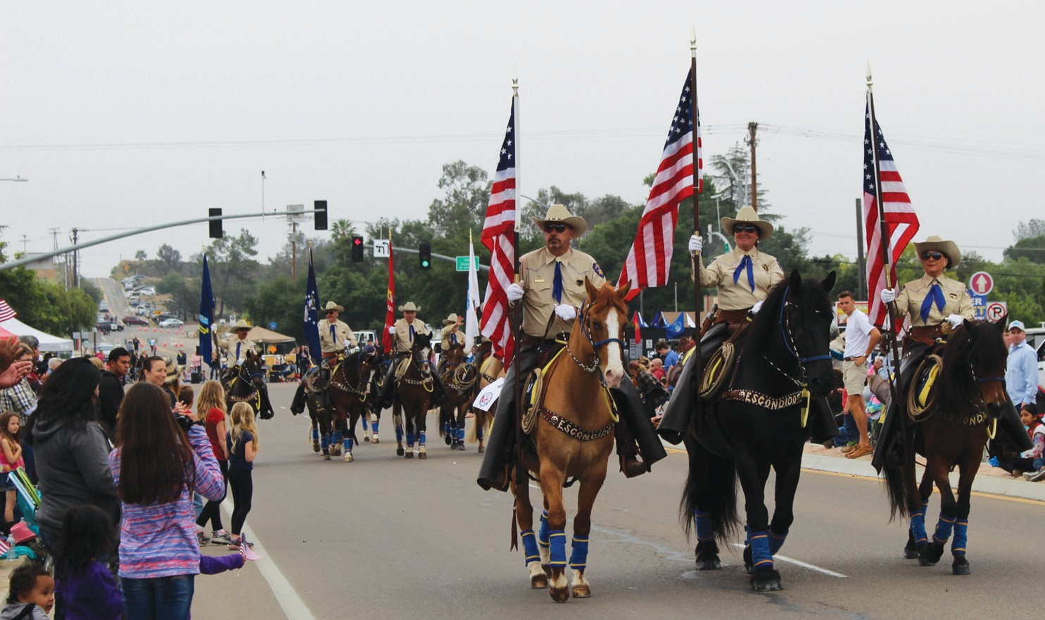 Several units from Escondido made a big impression at Saturday's Western Days Parade in Valley Center. They included the Escondido Mounted Posse, Escon­dido's Veterans of Foreign Wars Post 1513, and the American Legion Riders chapter 149.