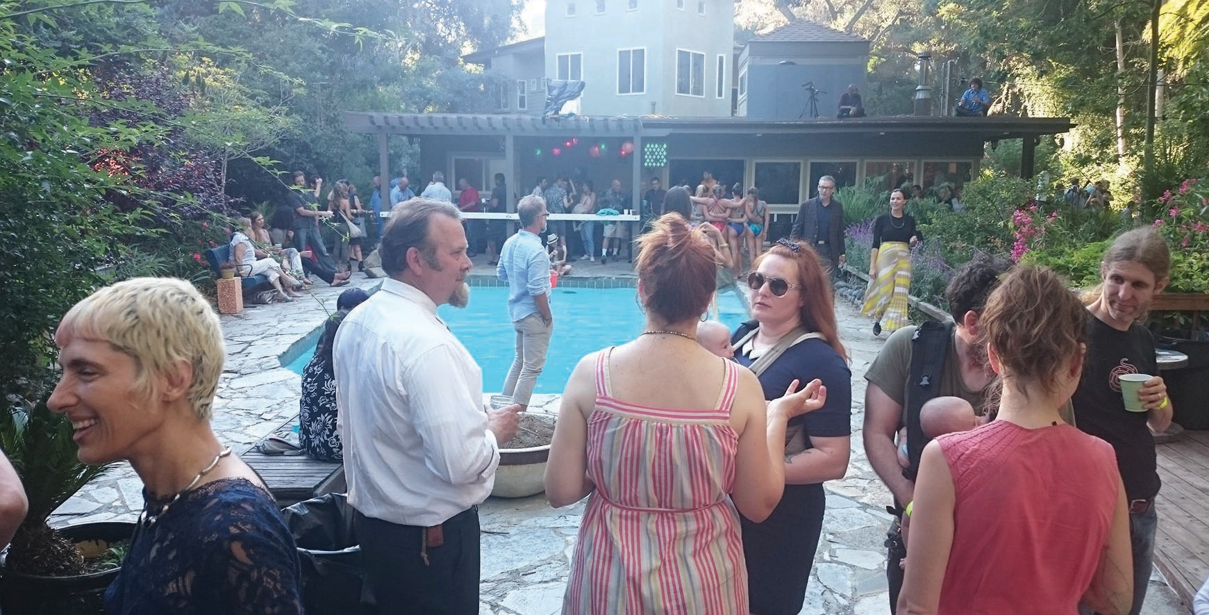 Poolside at the Felicita Grand Re-Opening.