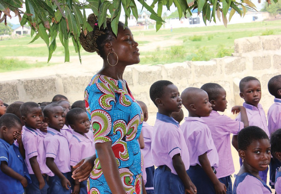 Promise Land Ranch school provides schooling for poor children from Ghana, Africa.