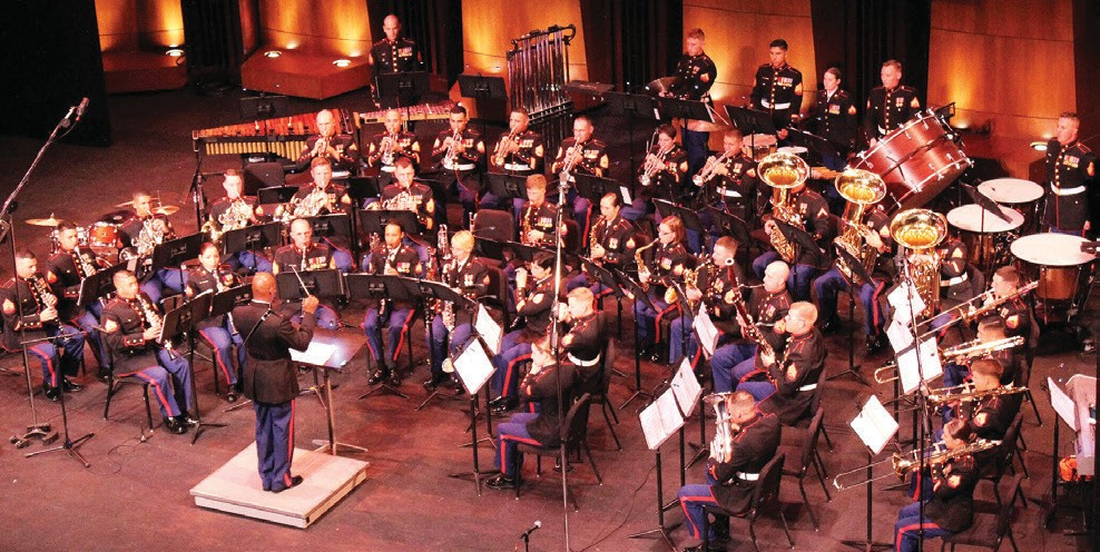 The 1st Marine Division Band, based in Camp Pendleton, will be in concert at the Main Stage at the California Center for the Arts.