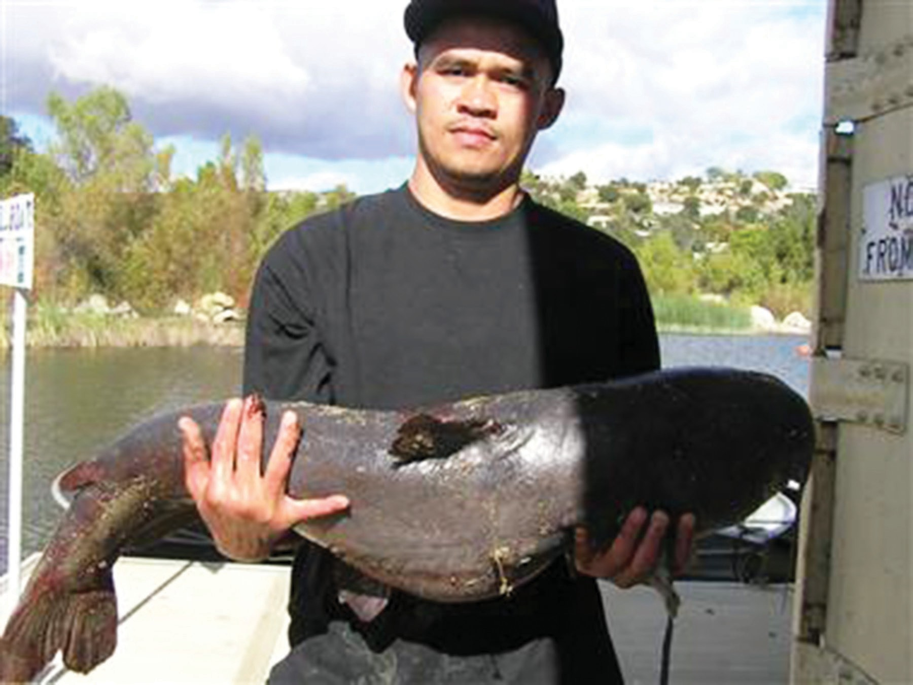 This 32-pound catfish (or is a sea lion?) was caught several years ago at Lake Wohlford by Sam Sengsouly of Escondido.