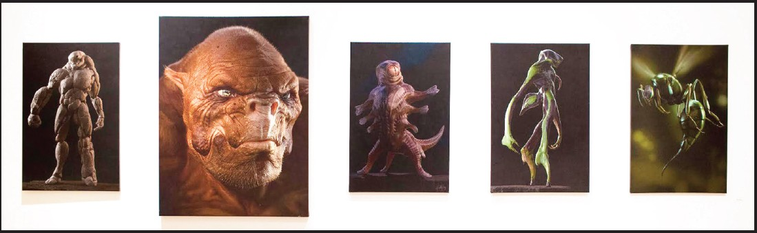 Neville Page, Creatures from Warner Bros. Green Lantern, Digital print, 2011. Honey Photographs by Alyss