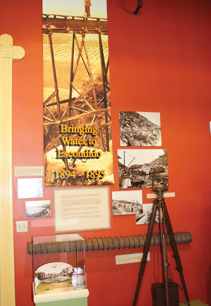 An upstairs exhibit on water at the Santa Fe Station.
