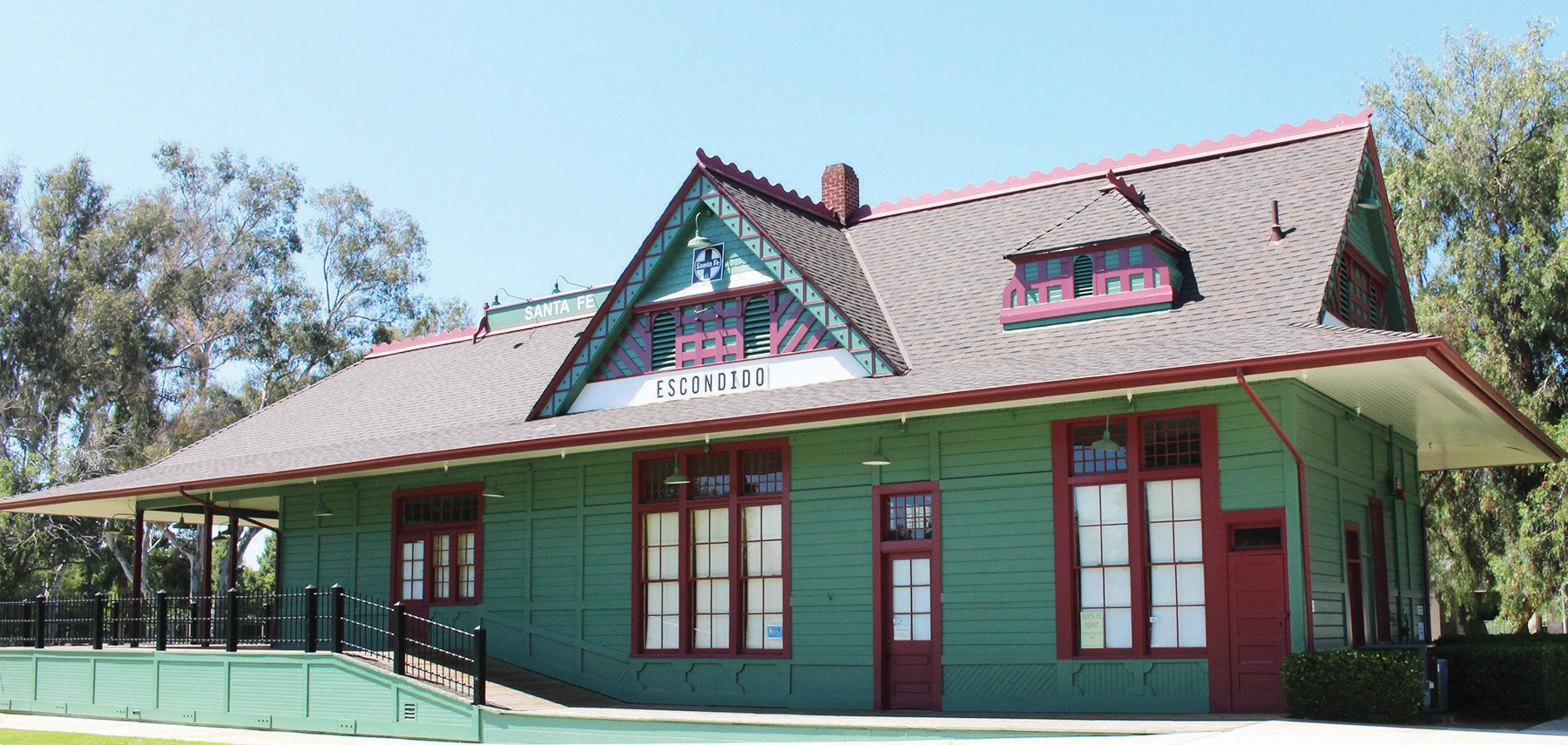 The Santa Fe Station was once the hub of transportation activity in Escondido.