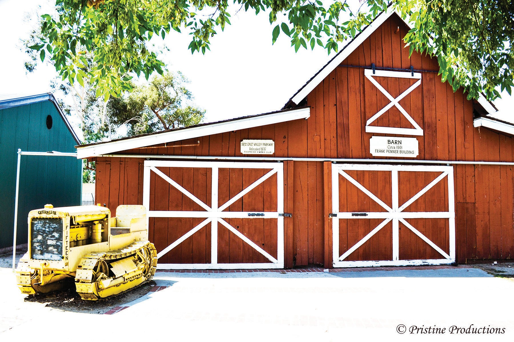 The Barn, where you find a number of historical farming implements from the past. On Saturdays you will also see a blacksmith at work.