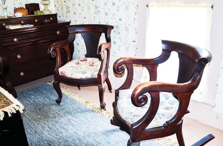 Interior shots of the Victorian House.