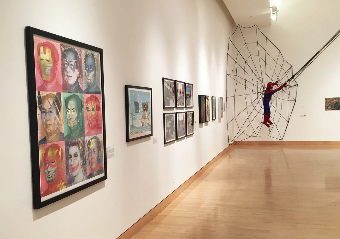 """The """"Hero"""" exhibit includes works from many artists presenting their riffs on the comic book."""