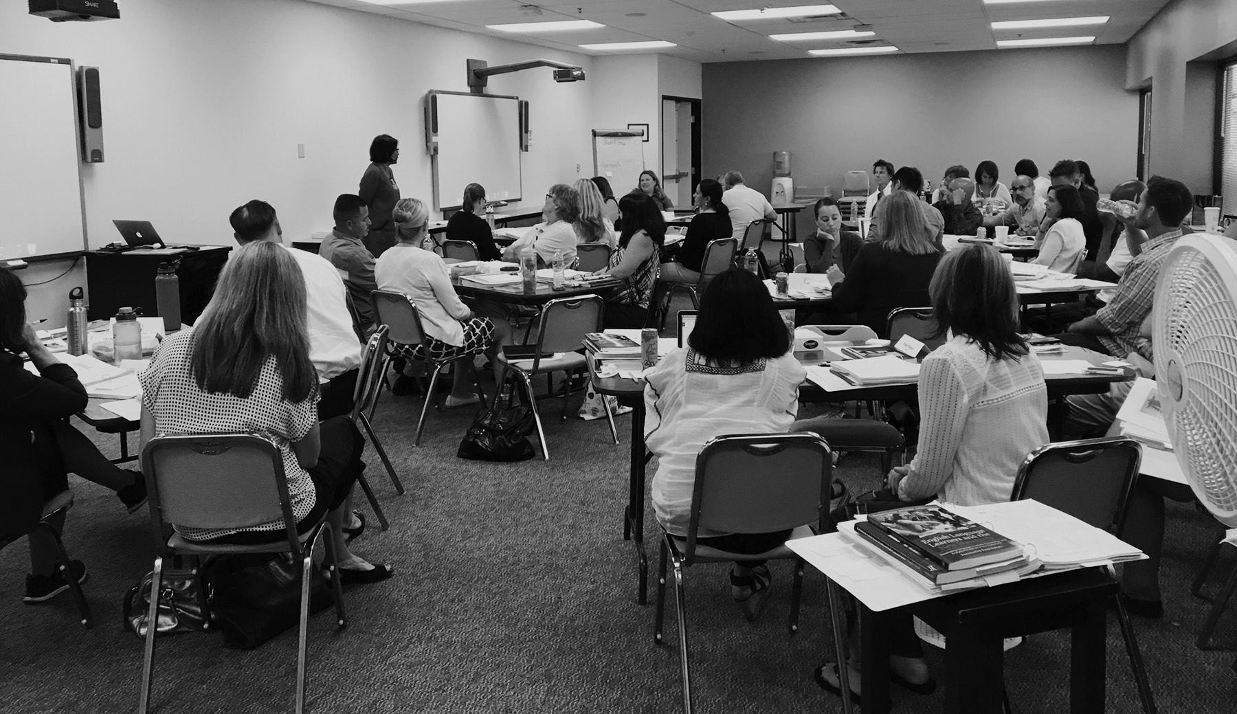 Escondido educators during June's workshop for engaging English learners.
