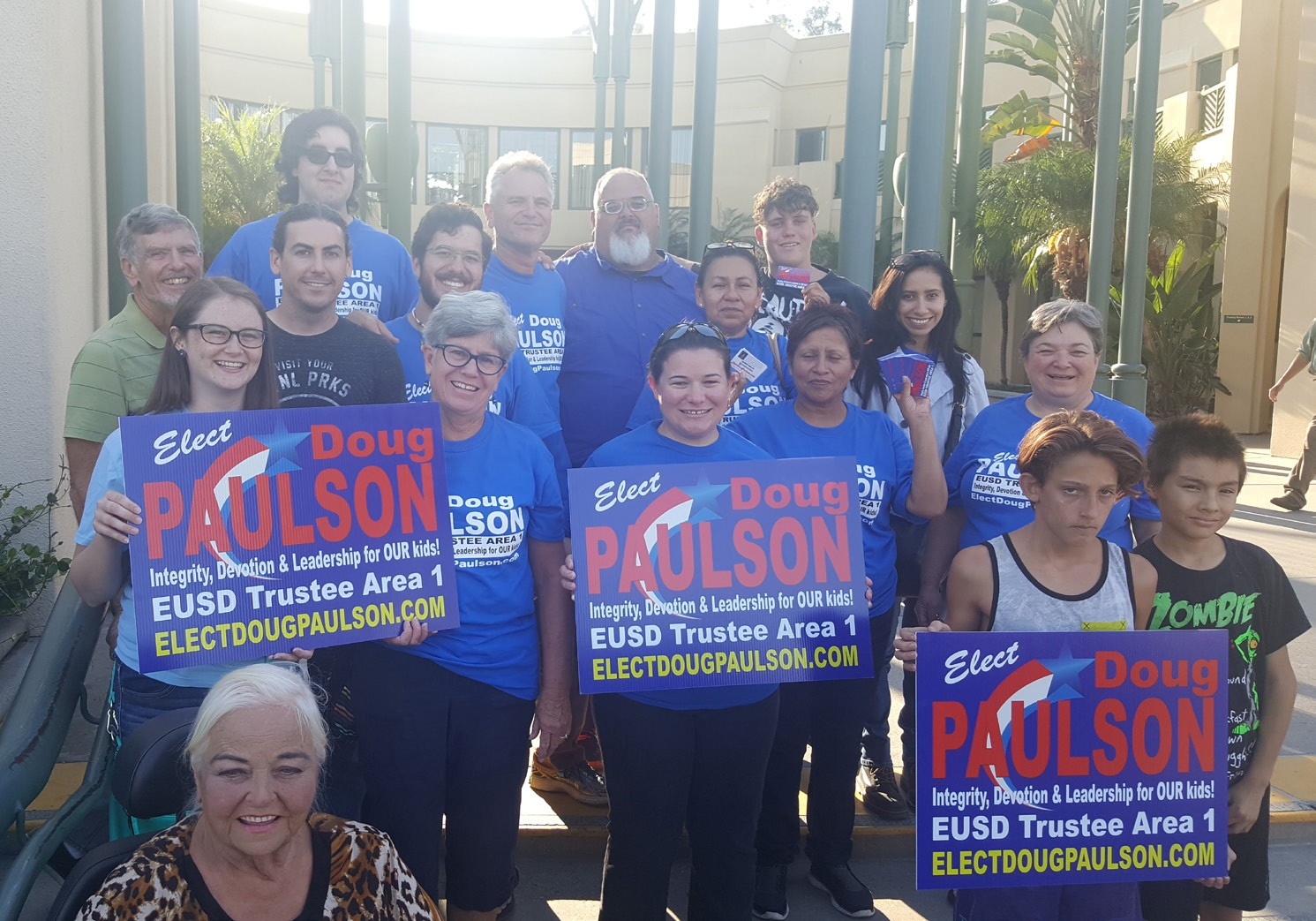 Doug Paulson supporters at Friday nights candidate rally.